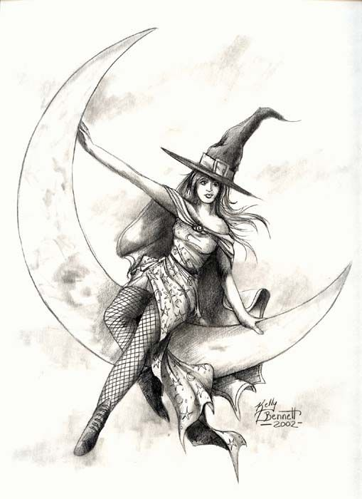 дела ведьмочки рисунки карандашом время