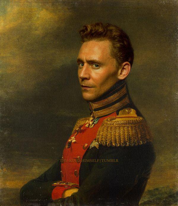 Tom Hiddleston photomanipulation over George Dawe's Portrait of Pyotr F. Zheltukhin