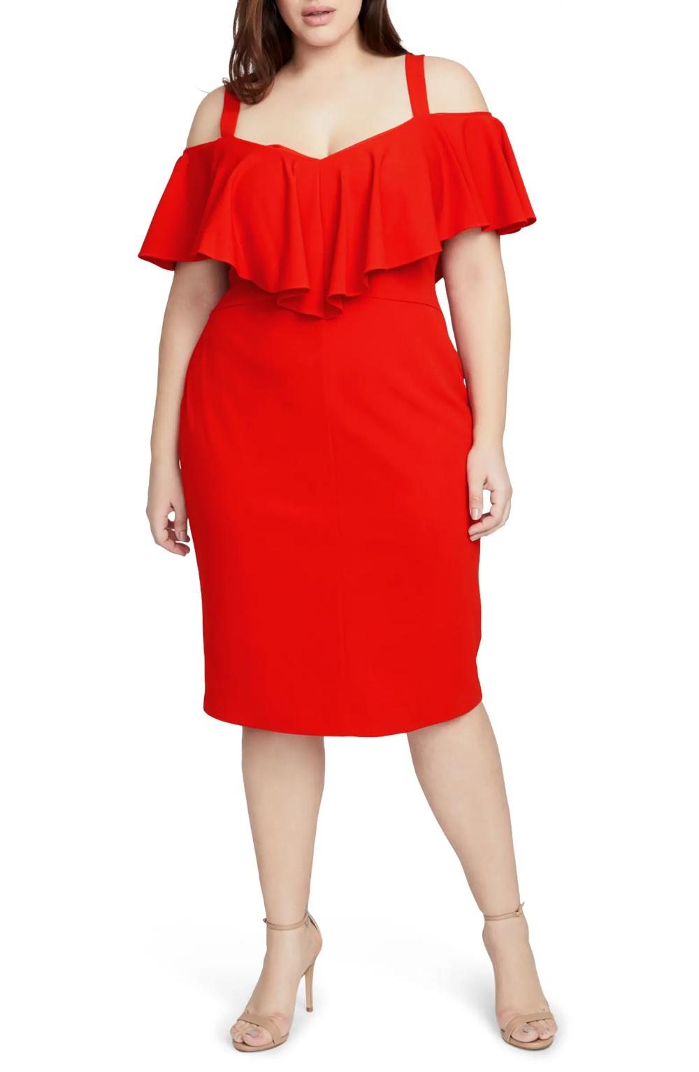 RACHEL Rachel Roy Cold Shoulder Scuba Dress (Plus Size) | Nordstrom
