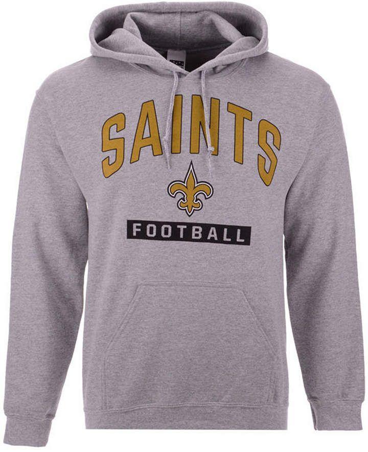 bfe33393 Authentic Nfl Apparel Men's New Orleans Saints Gym Class Hoodie ...