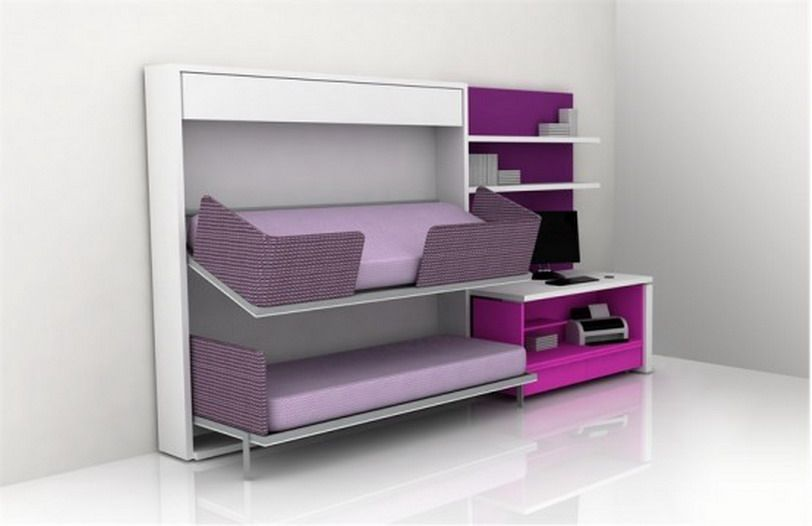 Very Small Teen space saving bedroom ideas especially if it's a very small bedroom