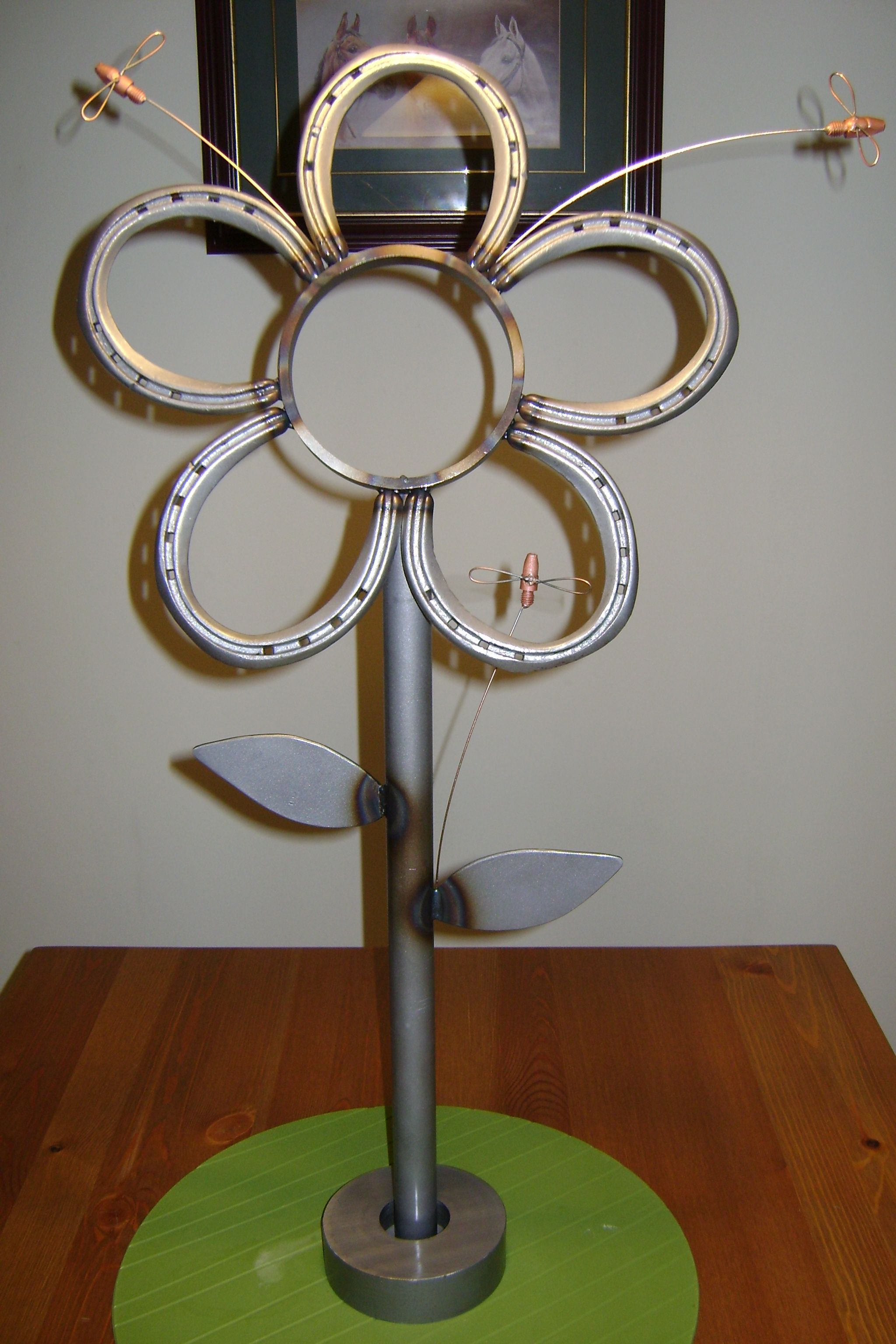 Horseshoe arts and crafts - Image Detail For Miller Welding Projects Idea Gallery Horse Shoe Flower