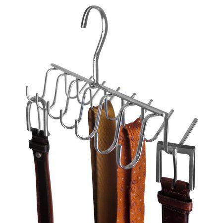 Evelots Tie Belt Scarf Jewelry Rack Hanger Closet Organizer Chrome 14 Hooks Walmart Com Hanger Closet Organization Jewelry Rack