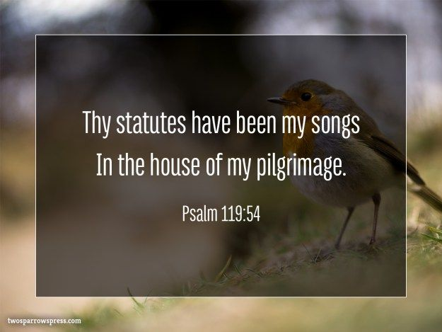 Psalm 119:54 | Psalms, Psalm 119, Book of psalms