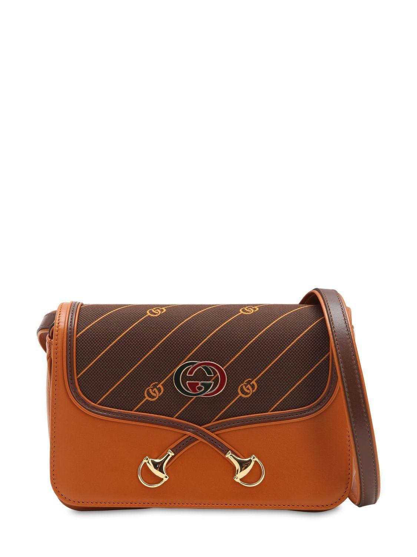 c163e470e48 GUCCI SMALL VINTAGE CANVAS   LEATHER BAG.  gucci  bags  shoulder bags   leather  canvas