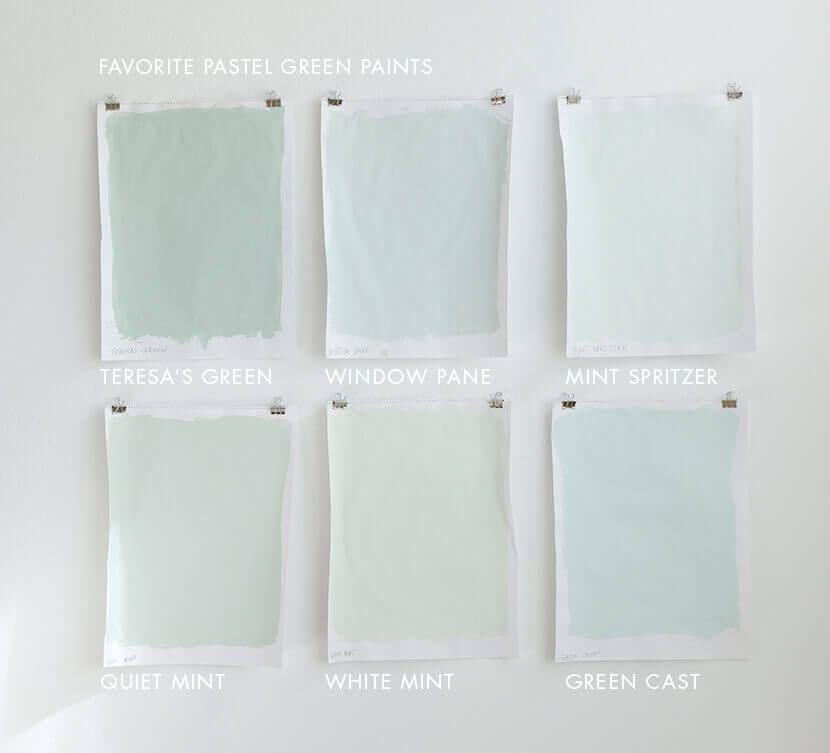 Favorite Pastel Paint Colors For Grown Ups White Mint Is