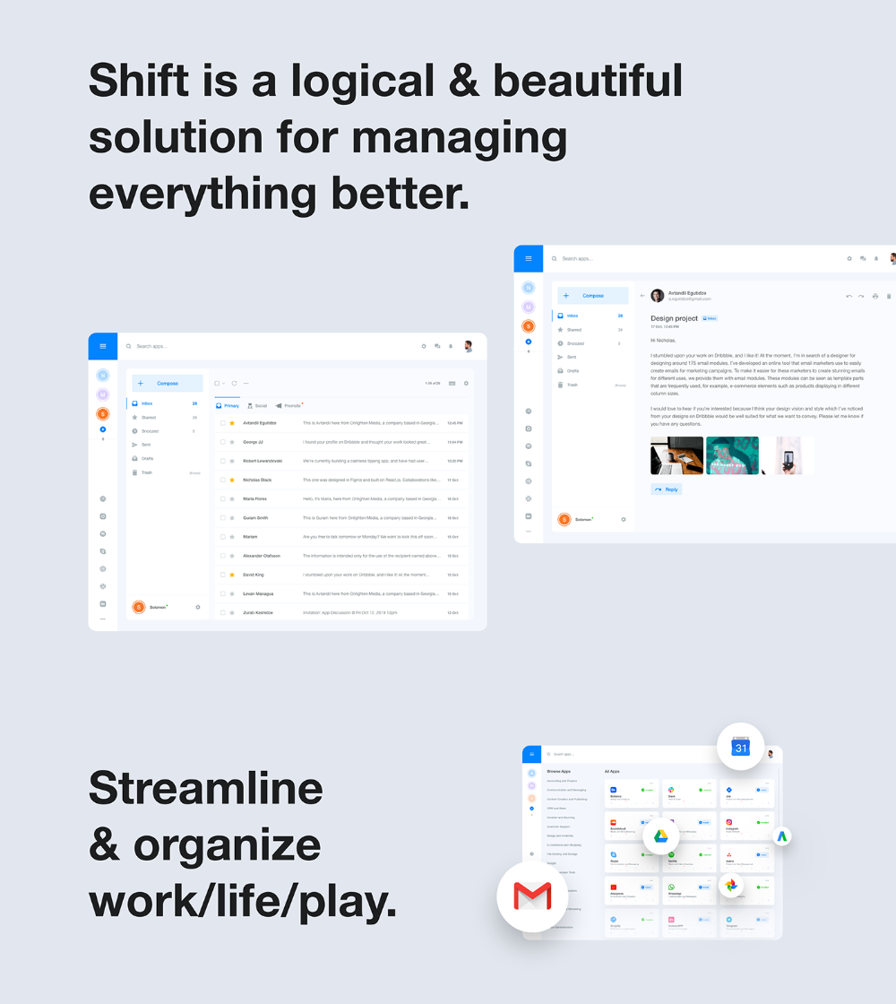 Shift App Redesign Unofficial On Behance In 2020