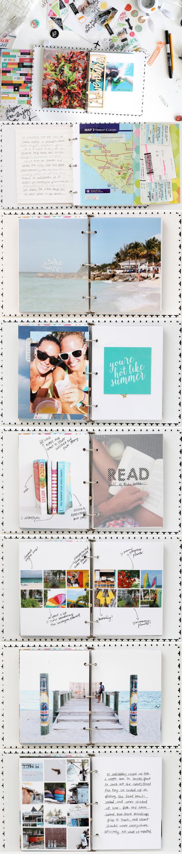 Bahama mini travel album from www.kelseyespecially.com