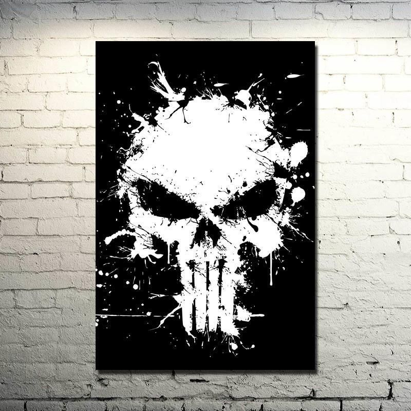 Punisher Skull Silk Fabric Wall Art Skullflow Https Www Skullflow Com Collections Skull Wall Arts Products Punish Skull Wall Art Fabric Wall Art Skull Art