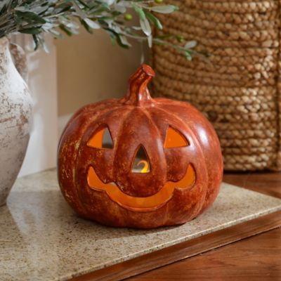 Terra Cotta LED Jack-O-Lantern Fall Pinterest Halloween