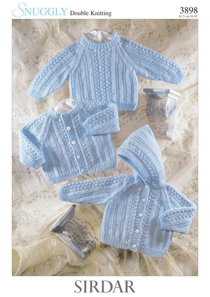 Cardigan, Sweater and Jacket in Sirdar Snuggly DK - 3898 ...