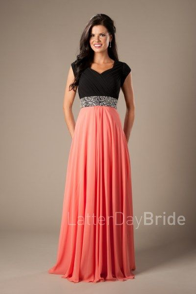 bff38fc05f Modest Prom Dress