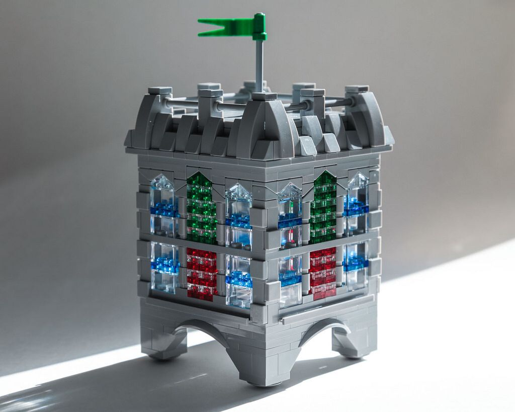 LEGO Custom Modular Cathedral Instructions USB Flash Drive