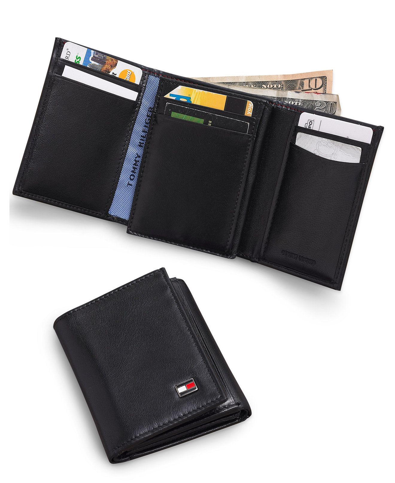 Status Anxiety Men/'sNathaniel Bi-Fold Coin Pouch Leather Credit Card ID Wallet