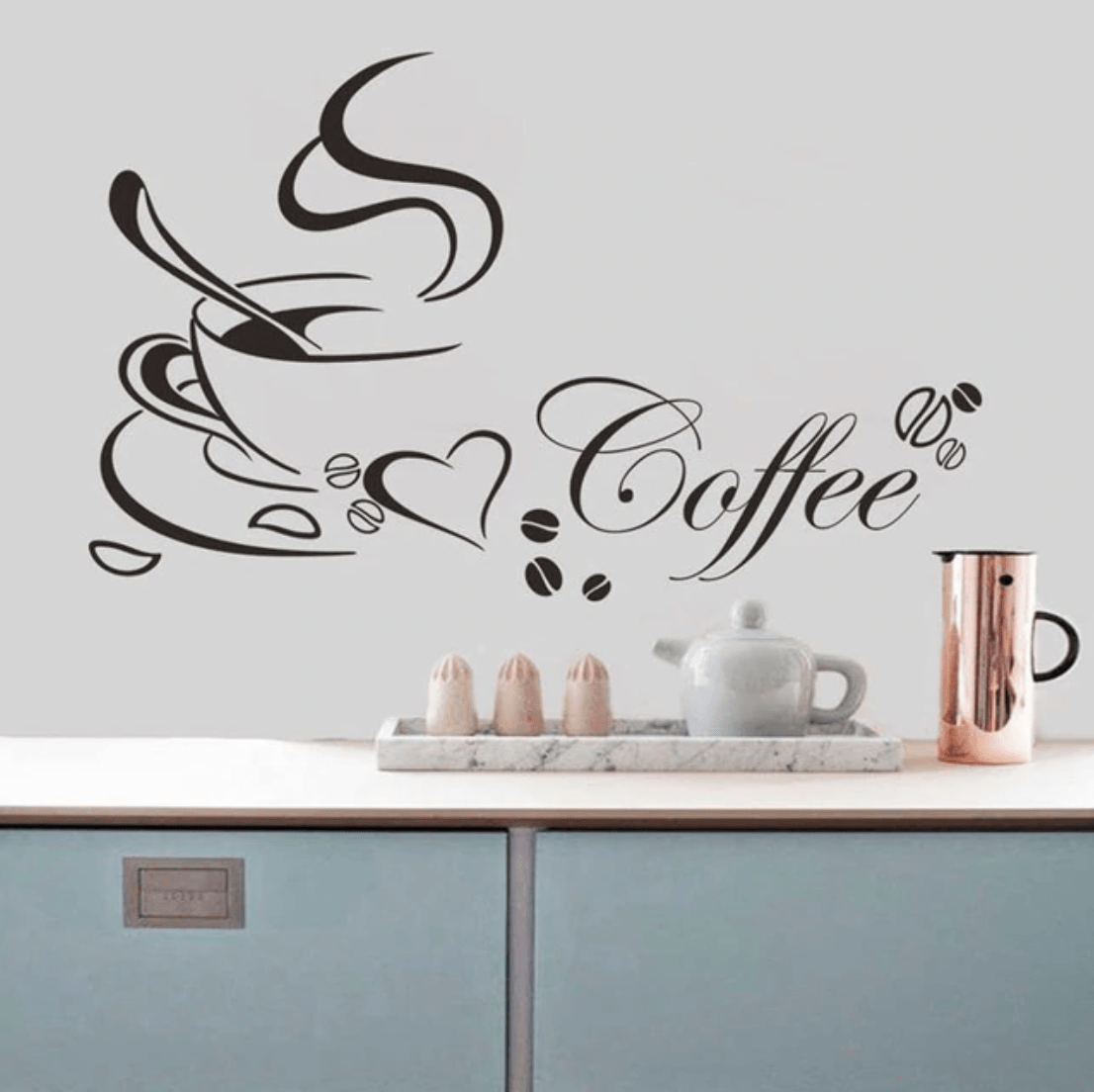 Coffee Wall Sticker  Kitchen wall stickers, Wall stickers home