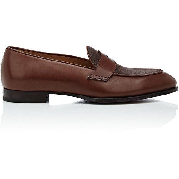 Mens Schifano Leather & Canvas Loafers Barbanera q7VSVXmNV