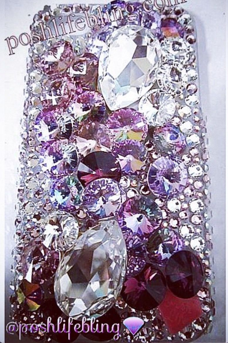 Purple Rain Crystal Phone Case