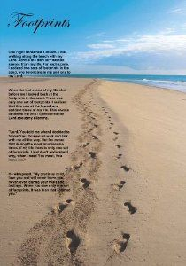 graphic relating to Footprints Poem Printable named Footsteps within the Sand Printable Playing cards Absolutely free Printable