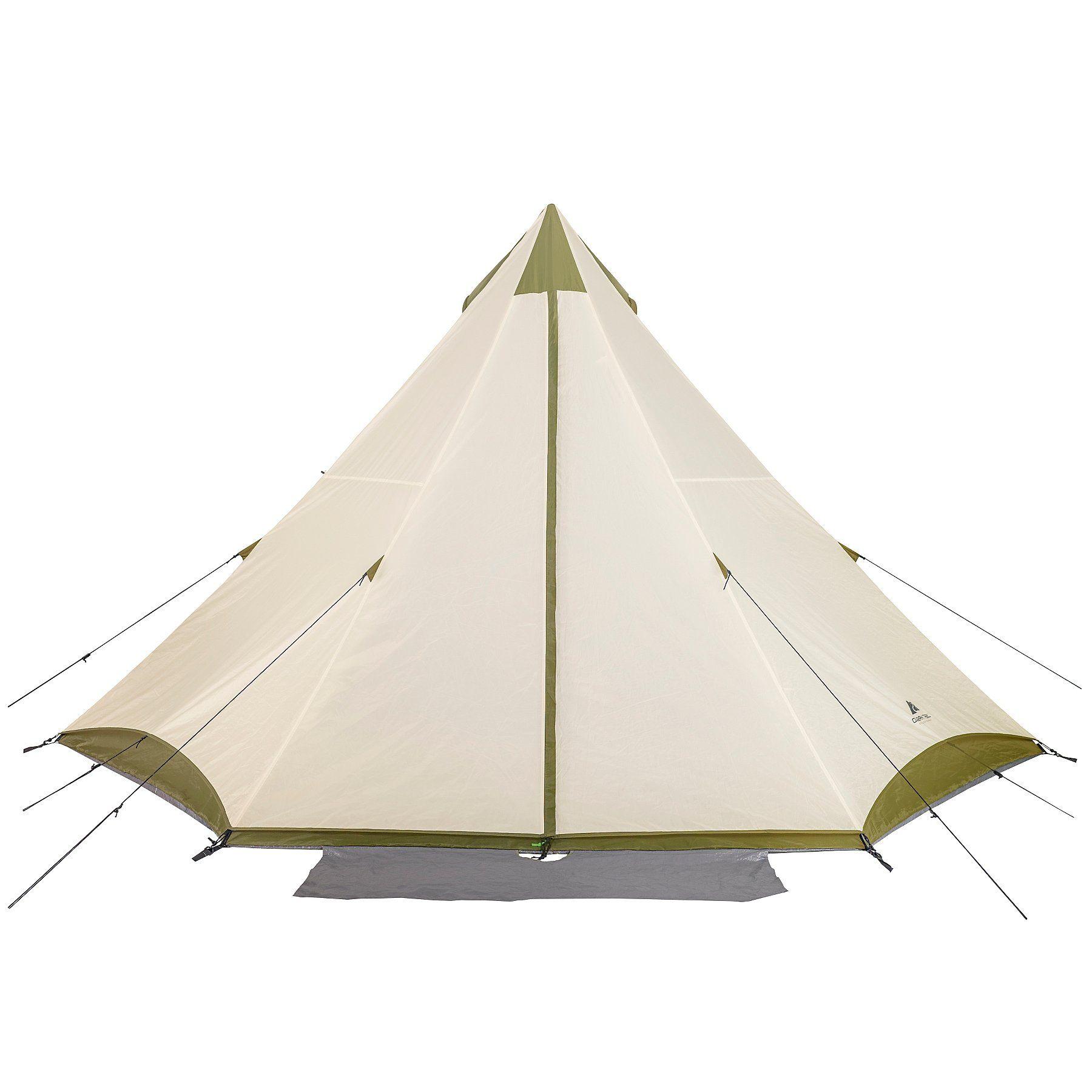 Ozark Trail Khaki 8 Person Teepee Tent Home Garden George Teepee Tent Tent Ozark Trail