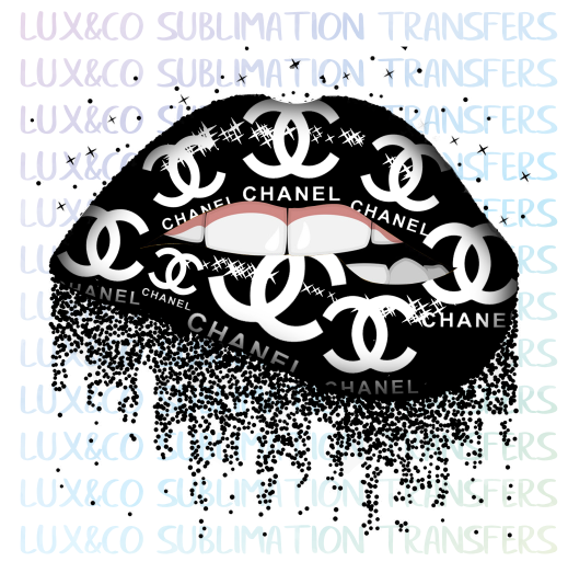 Chanel Dripping Lips Sublimation Transfer - L 12 inch