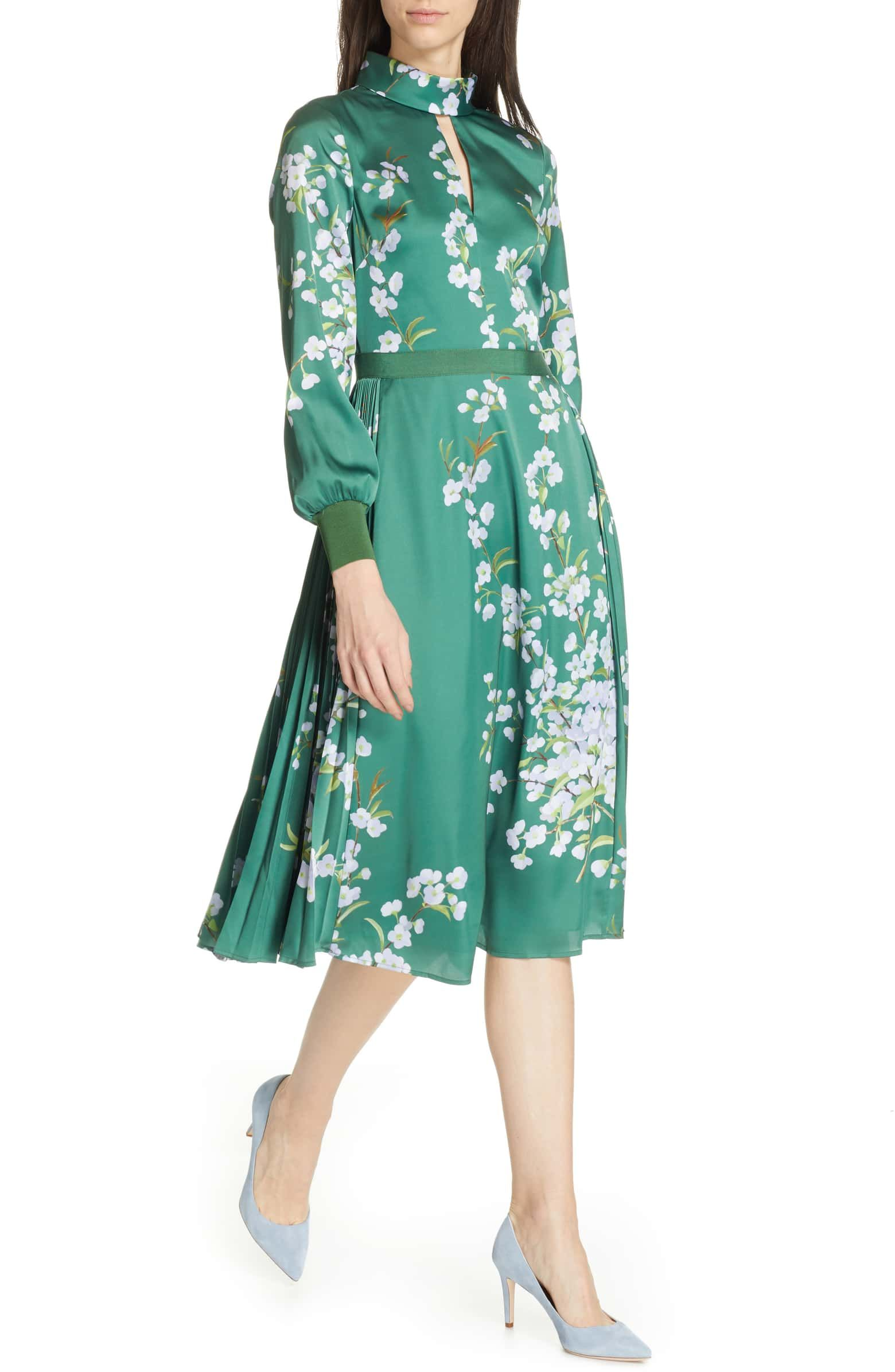 fb1682d05 Jhenni Graceful Satin A-Line Dress