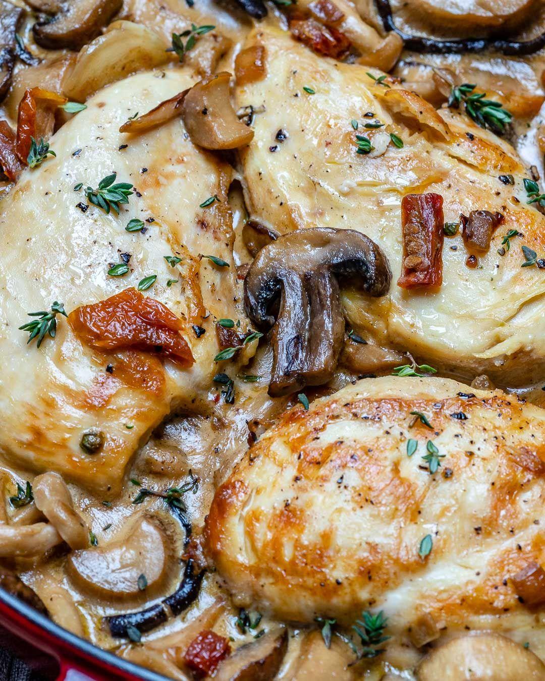 Easy Creamy Chicken Mushroom Recipe Keto Blondelish Com Recipe Chicken Mushroom Recipes Mushroom Recipes Mushroom Chicken