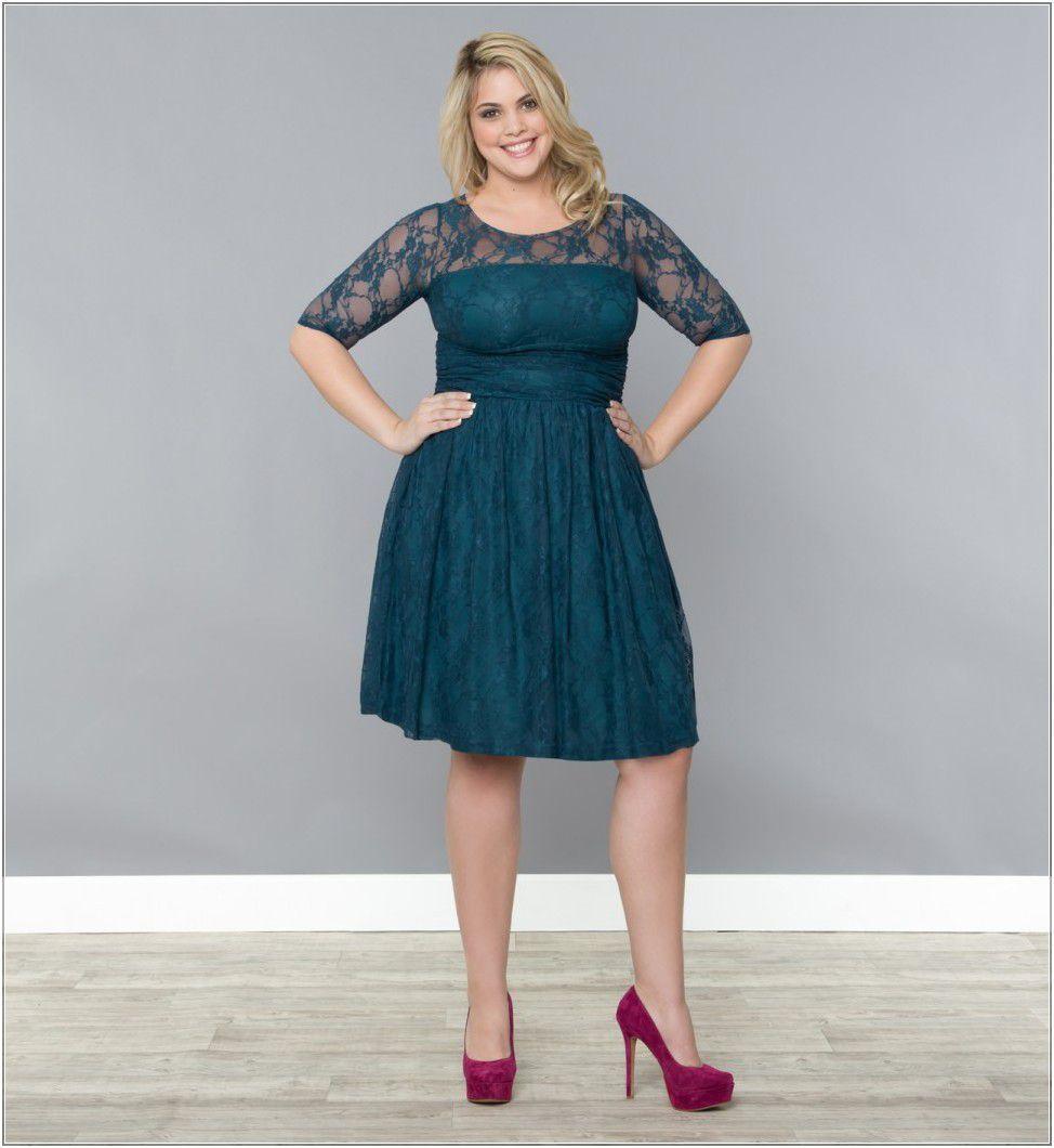 Long dark green dress  Plus Size Wedding Guest Dresses Dark Green Long Sleeve Wedding