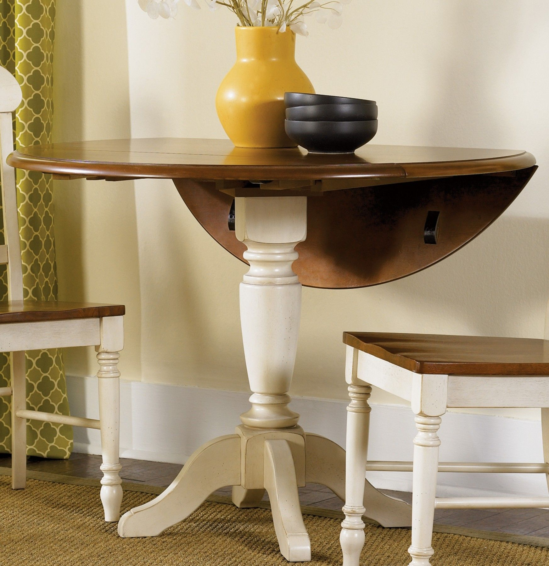 Low Country Sand Drop Leaf Pedestal Table Drop Leaf Table Side Chairs Dining Liberty Furniture