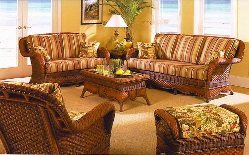 Autumn Morning Living Room Set And Individual Pieces Delectable Indoor Wicker Dining Room Sets Decorating Inspiration