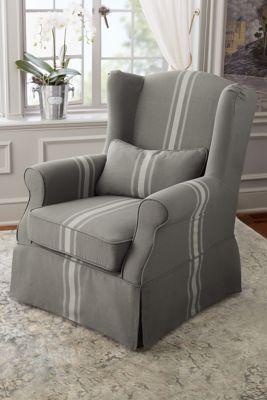 Ordinaire Slipcovered Tristan Chair   Slipcover Chair, Wingback Chair, Modern Wingback  Chair | Soft Surroundings