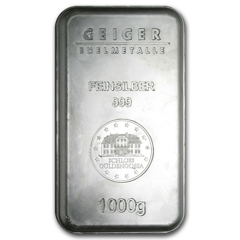 1 Kilo Silver Bar Geiger Security Series 1000 Gram Sku 74694 Silver Bars Silver Investing Silver