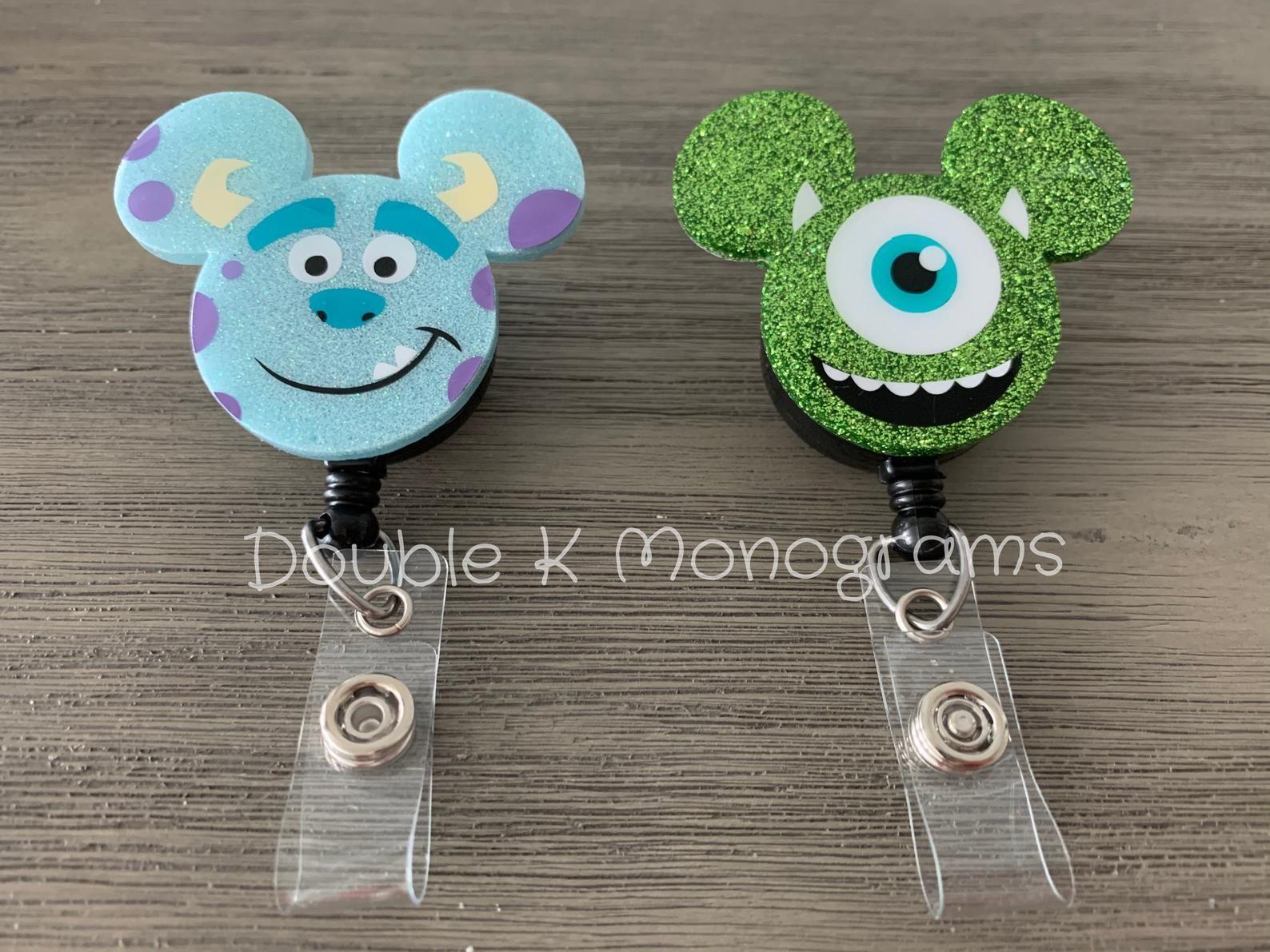 Disney badge Nurse Minnie Badge Reel Mickey Confetti Badge Reel Teacher Badge clip Disney World Disneyland Badge Holder