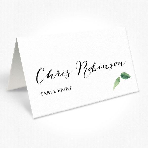Wedding Name Card  Wedding Place Cards