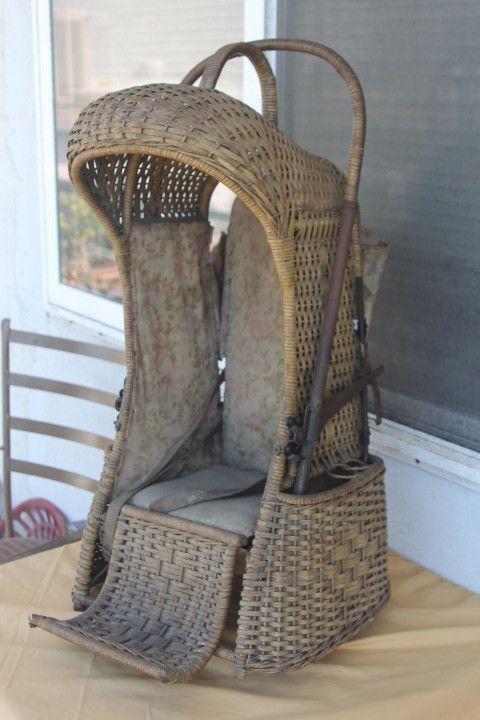 Cradle board ANTIQUE1902 The Oriole Go-Basket baby basket whitemans cradleboard