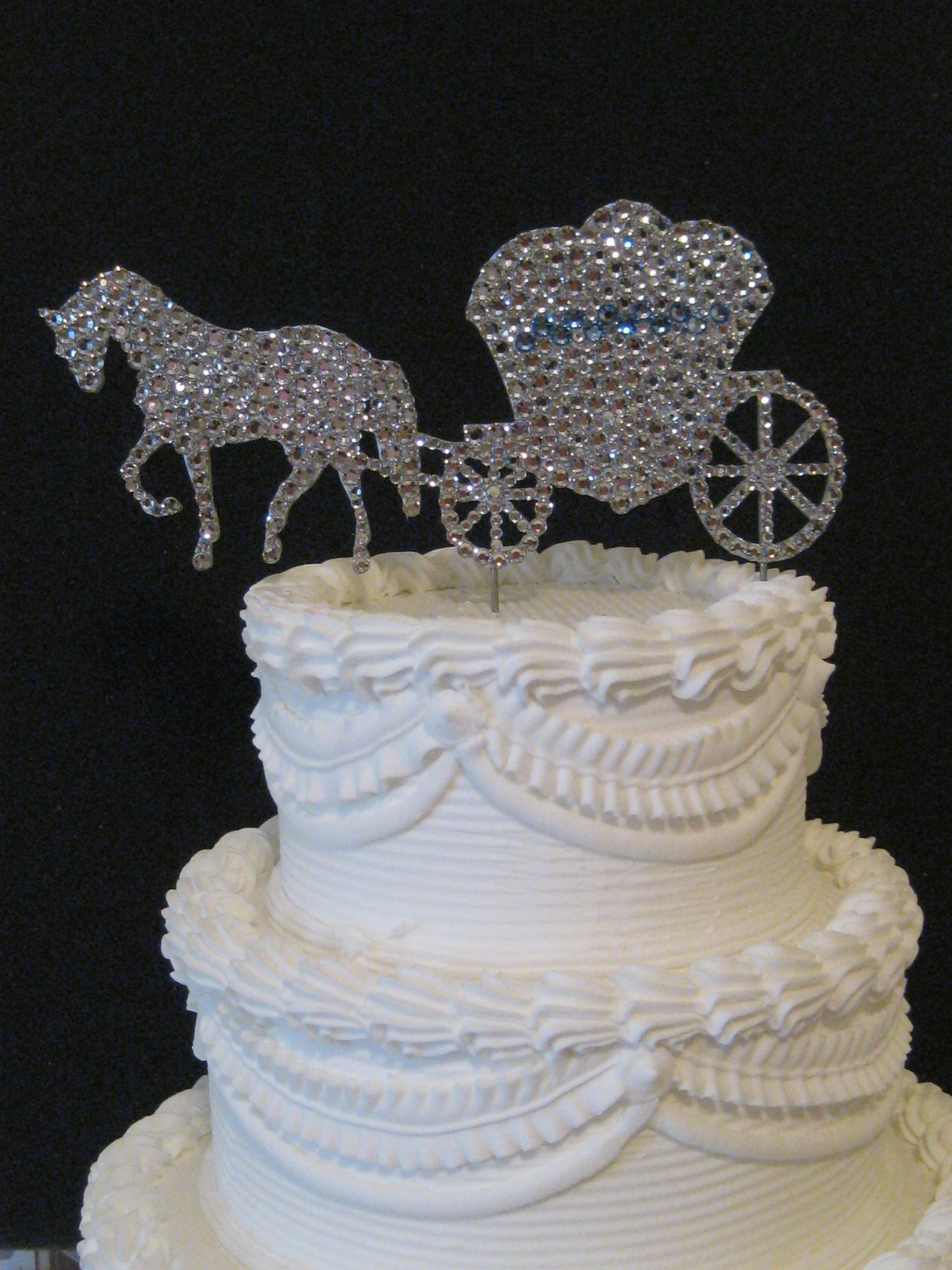 Horse And Carriage Wedding Cake Topper