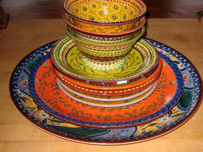 Ceramic Dishware...these are beautiful! Mediterranean StyleSpanish ... & Ceramic Dishware...these are beautiful! | My Wish List | Pinterest ...