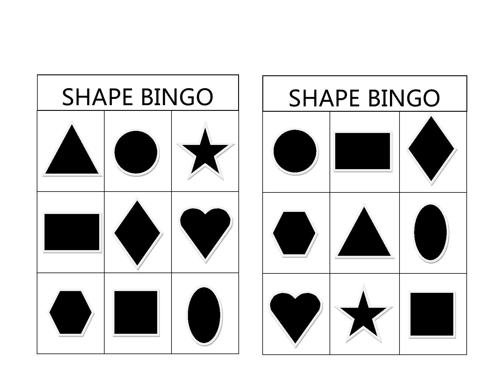 Shape Bingo Is A Fun And Easy Preschool Activity To