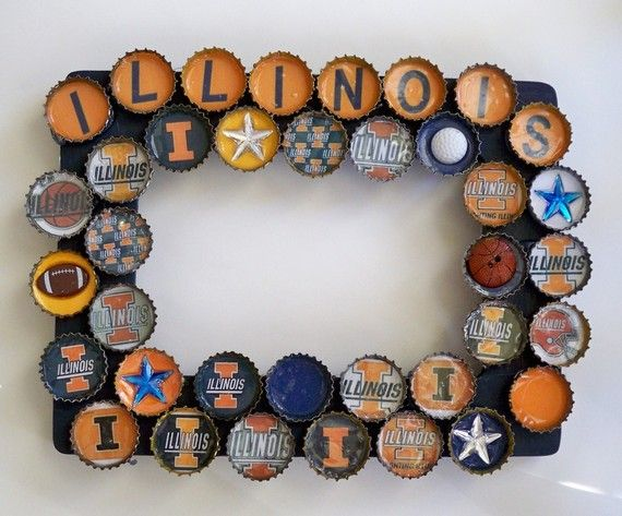 University of Illinois Bottle Cap Picture Frame | All Things Orange ...