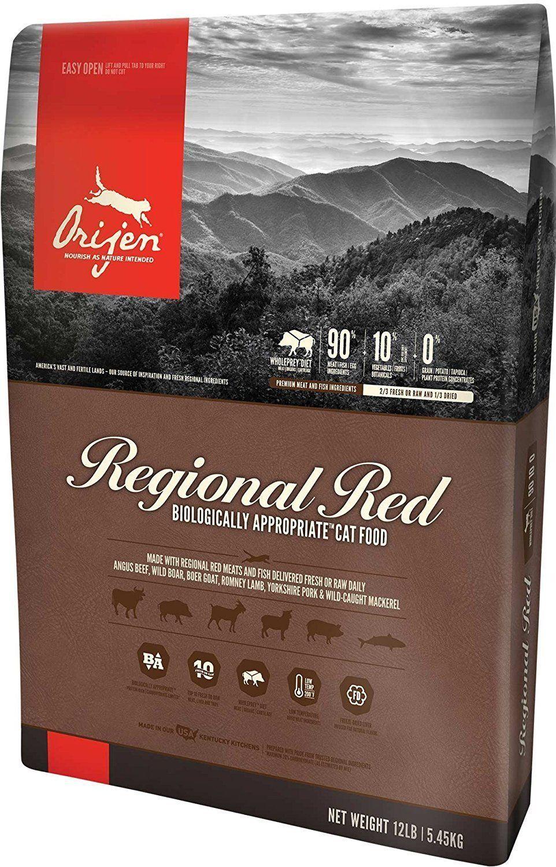 Orijen Regional Red Dry Cat Food 12 LB. Bag with ANGUS