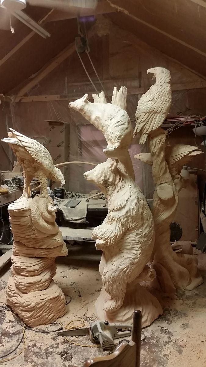 Carvings by jeff mohr we love pinterest trä