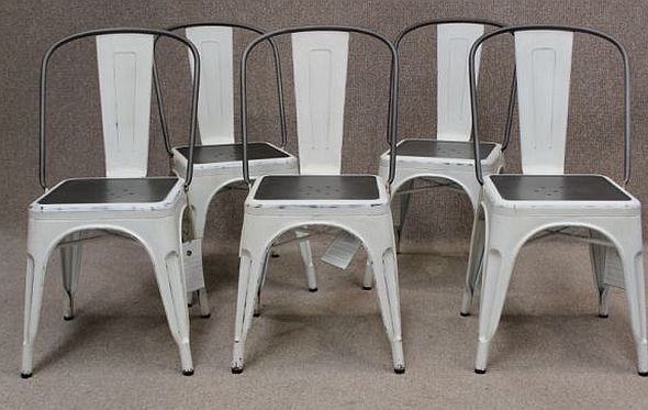 Charmant WHITE TOLIX STYLE CHAIR, INDUSTRIAL, VINTAGE STYLING FOR YOUR HOME OR