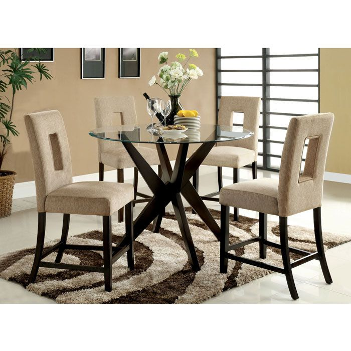 Dining Room Counter Height Sets Delightful 9Pc Counter Height Dining Set Gray Microfiber Rich