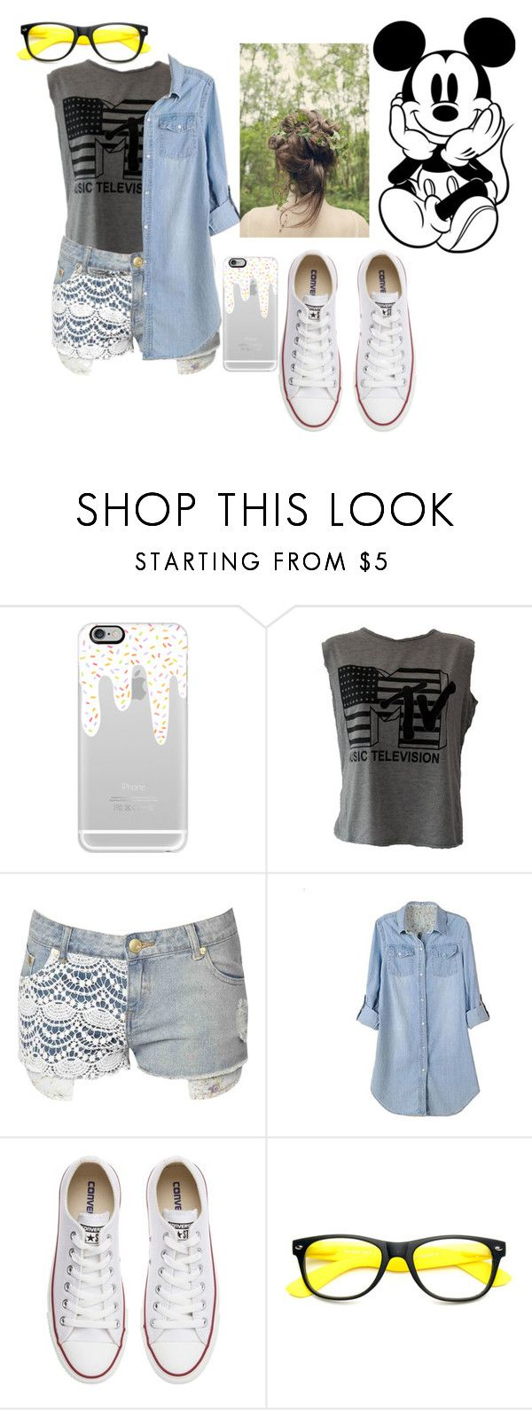 """""""Don't"""" by thaisa-tcs ❤ liked on Polyvore featuring Casetify, Été Swim, Jane Norman, Disney, Retrò and Converse"""