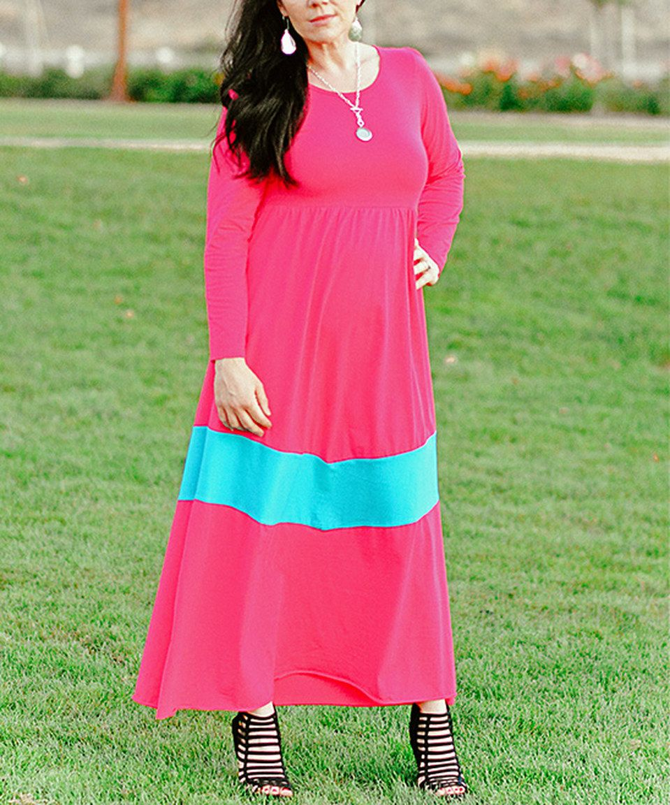 Look what i found on zulily xcel couture pink u turquoise maxi
