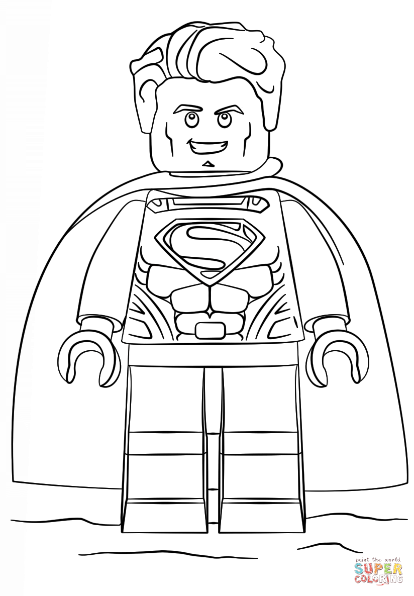 Lego Superman Coloring Pages 14 824×1186 Hechoconamor