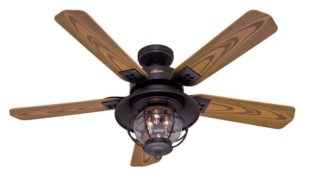 Hunter 52 rustic new bronze indoor outdoor damp rated ceiling fan hunter 52 rustic new bronze indoor outdoor damp rated ceiling fan with light aloadofball Choice Image