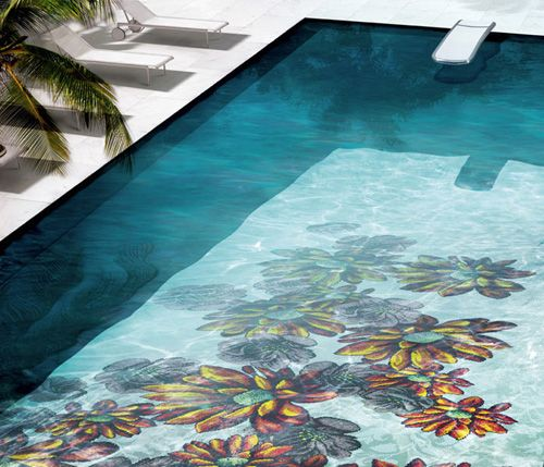 Glass Mosaic Tiles for Pools by Sicis | Mosaics, Glass mosaic ...