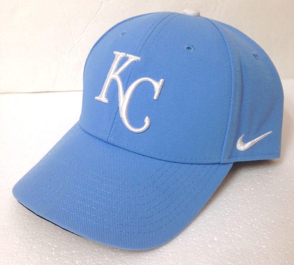 6821f1b2 NIKE KANSAS CITY ROYALS HAT curve bill structured powder light blue ...