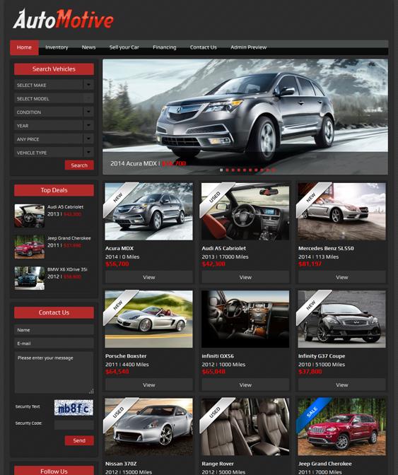 This Car Dealership WordPress Theme Offers A VIN Decoder