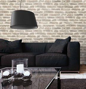 tapete stein steinwand vlies mauer creme klinker backstein wand 3d optik neu ziegel wand. Black Bedroom Furniture Sets. Home Design Ideas